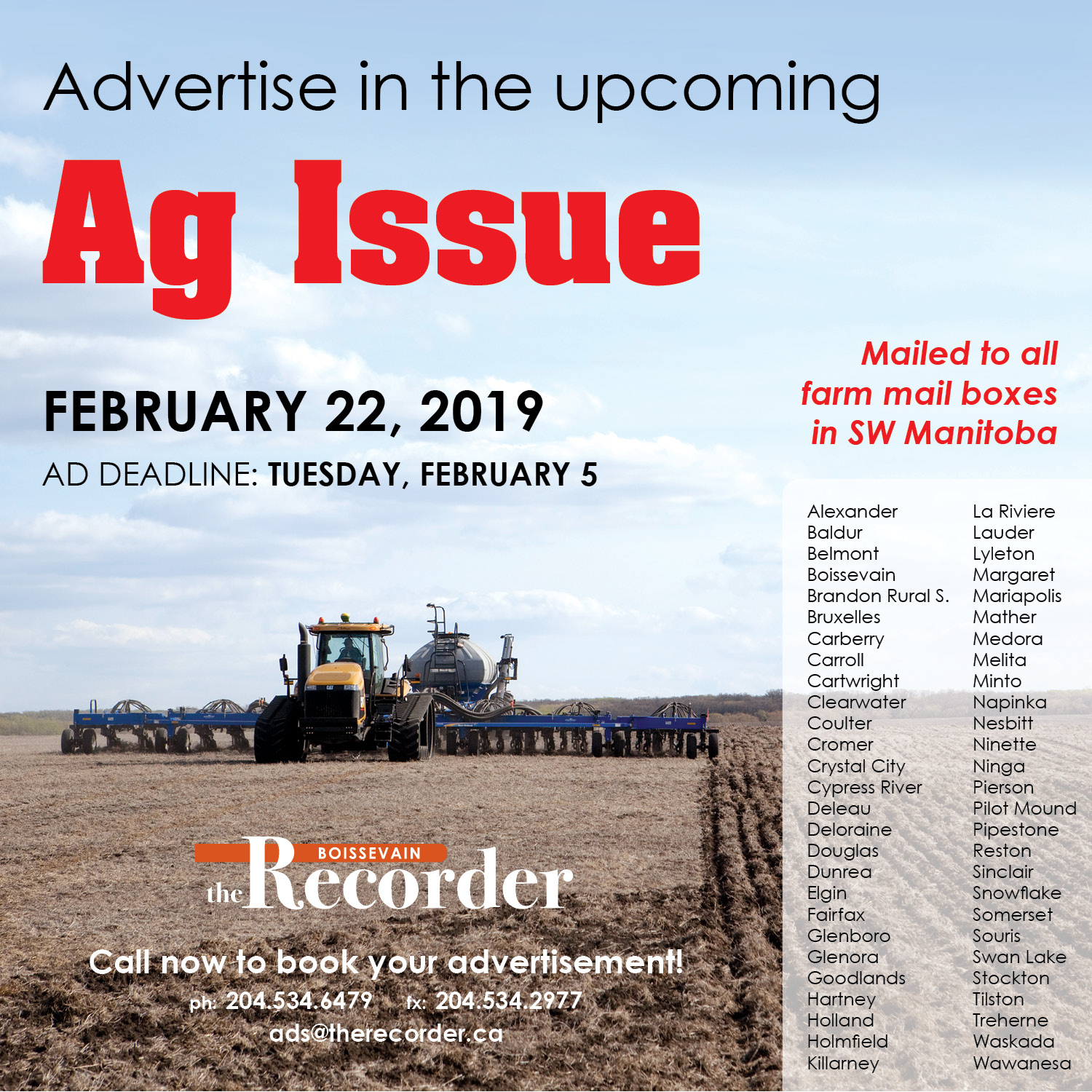 Recorder Ag Issue 2019
