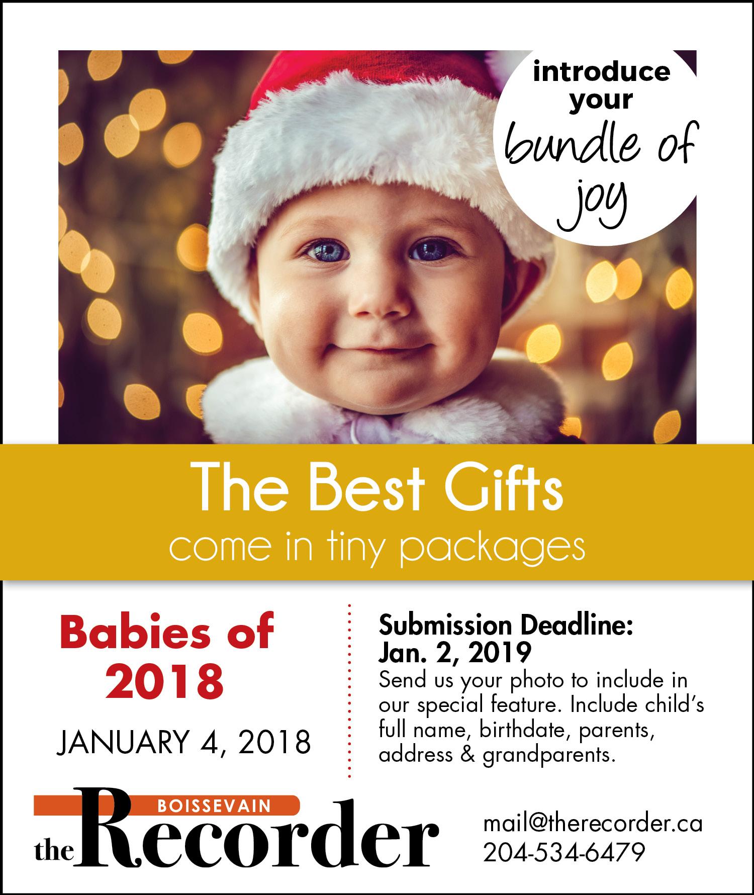 Recorder Babies of 2018