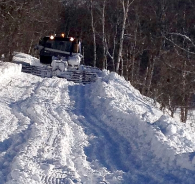 Lots of snow, but not all snowmobile trails open