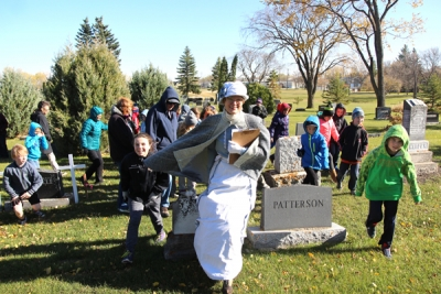 Cemetery tour brings local history to life