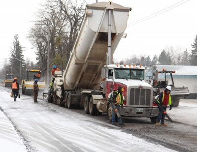 Winter stops Highway #10 project, 80% complete