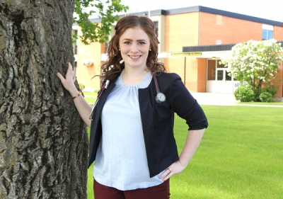 DANIELLE PARADIS ... 2008 Boissevain School Graduate, graduated on May 18 with a Doctor of Medicine Degree and will begin her medical residency in Dauphin, Manitoba starting July 1, specializing in Rural Family Medicine.